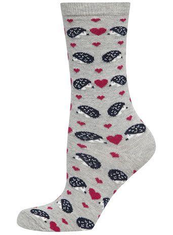 Grey hedgehog socks - View All - Accessories