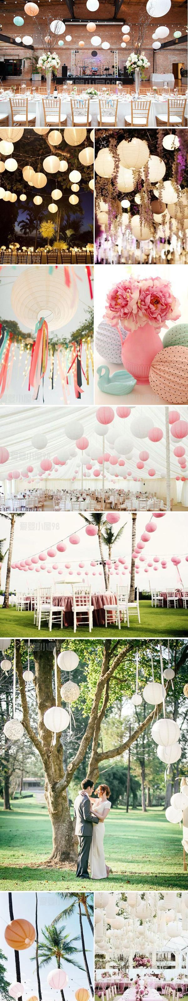 Free shipping 10pcs/lot 8''(20cm) Chinese paper lantern paper lamp wedding decoration 20 colors for choosing wedding lantern-inEvent & Party Supplies from Home, Kitchen & Garden on Aliexpress.com | Alibaba Group