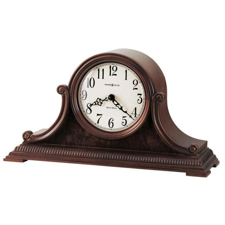 Aged Dial Scroll Carved Cherry Dual Chime