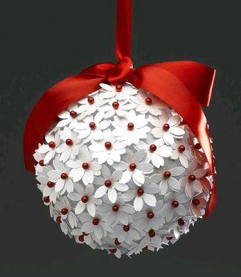 más y más manualidades: Cómo hacer esferas navideñas con distintos tipos de materiales.