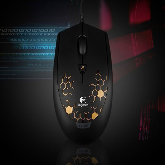 Logitech Gaming Mouse G100 Wired 2500DPI Optical Sensor Gold Genuine #Logitech