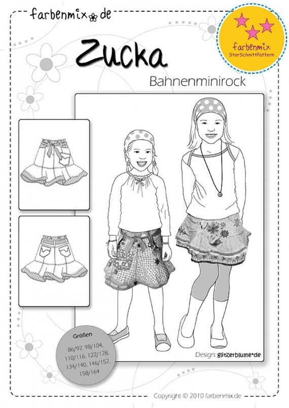 Farbenmix ZUCKA Sugar and Spice Skirt Sewing by MyPatternPlace, $14.00