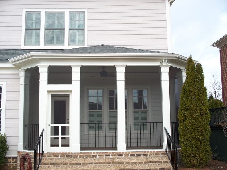 Kolby Construction Charlotte: Hip Style Roof Screened In Porch With Decorative Columns