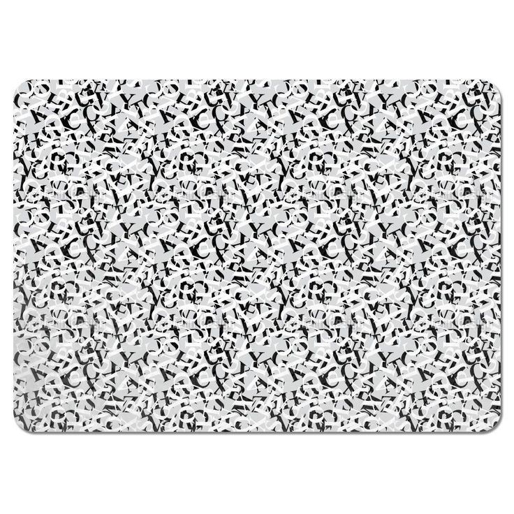 Uneekee Perpetua Black and White Placemats (Set of 4) (Perpetua Black And White Placemat) (Polyester, Kids)