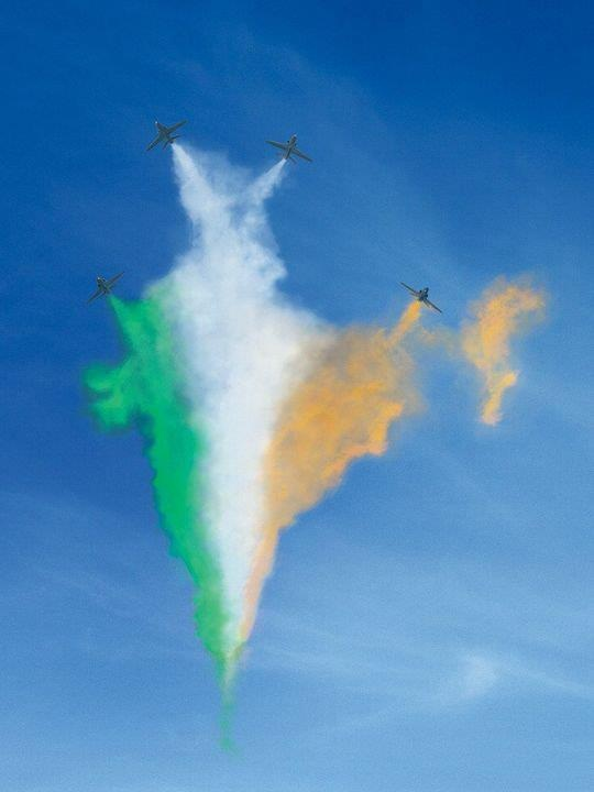 The Indian tri-colour in an aeroshow! Simply amazing!