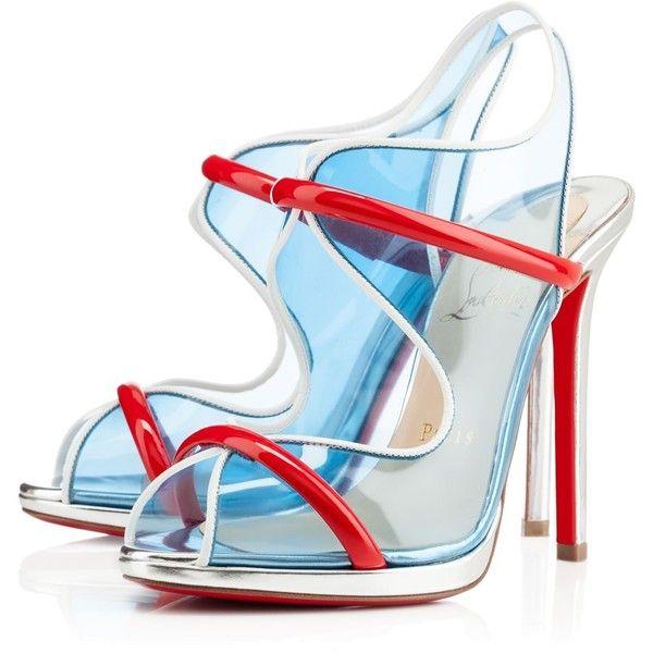 Christian Louboutin Aqua Ronda Sandals ❤ liked on Polyvore featuring shoes, sandals, heels, aqua sandals, aqua blue sandals, aqua heels shoes, christian louboutin and christian louboutin sandals