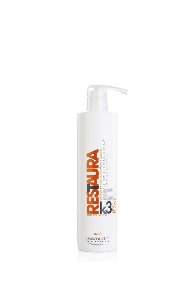 Restaura K3 Finos - Almond Restructuring Cream (Crema reestructurante para cabellos finos con aceite de Almendras)