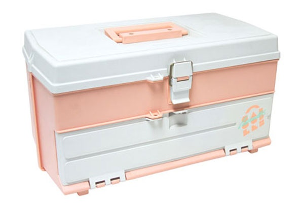 If you were a tween in the late '90s or early 2000s, you probably identify Caboodles with blue, sparkly, translucent, round-edged boxes. But for you '70s babies and '80s kids, this box perfectly embodies the strange, hazy aesthetic of that transitional era. That muted pink and Miami Vice-esque font could be straight out of a Polaroid from your first-ever gymnastics meet.