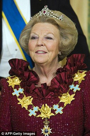 Former Queen Beatrix - The Dutch royal family also has a personal fortune thought to be in the region of £131m much of which was amassed through holdings in oil company Shell. As with the British royals, the four main royal palaces and the crown jewels are the property of the Netherlands but the Dutch royals also own four further homes, including a villa in Tuscany.