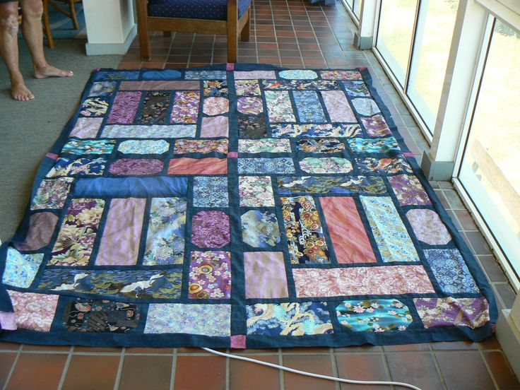 "Quilt made using Japanese fabrics.  Design by Leesa Chandler  ""Summer Palace"""