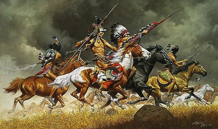 Thunder Across Plains Frank McCarthy LE75 18x30 Canvas Giclee Native American