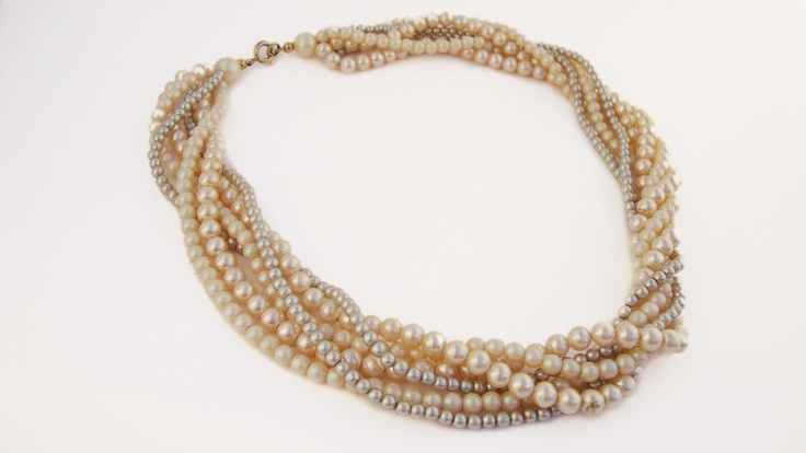 Vintage Faux Pearl Necklace Faux Pearl by TreasuresOnBroadway, $26.00