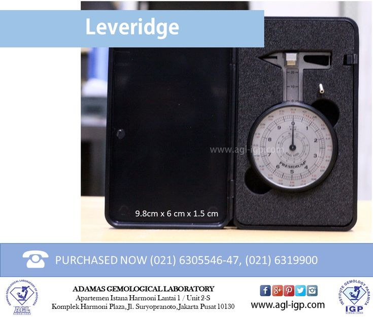 Leveridge is very useful to measure the diamond precisely. Leveridge can be used not just for measure loose diamond but also mounted diamond, whether its prong or bezel settings