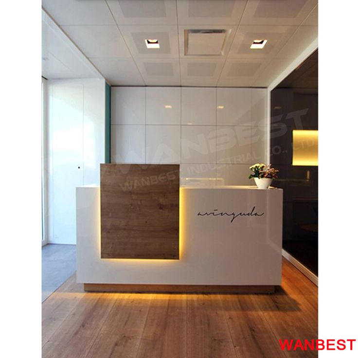 Custom Made Led Light Artificial Marble Small Hotel Clinic