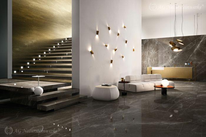 Granite Floor Bedroom Porcelain Stoneware Tiles And Granite Tiles To Choose As Wall Covering And Fl Grey Marble Floor Marble Flooring Design Granite Flooring