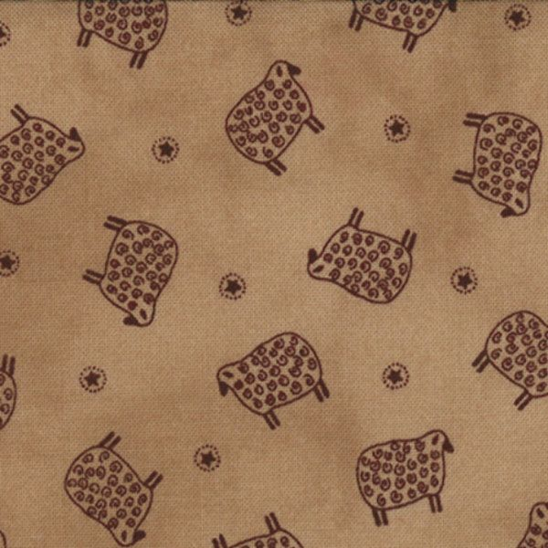 1/2 Yard - OLD GLORY GATHERINGS  Piecrust with Red Sheep by Primitive Gatherings for Moda Fabrics. by lavendarquilts on Etsy