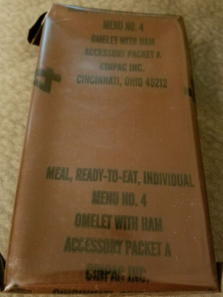 #Vintage #MRE Menu 4 #Omelet With #Ham US #Military Ration #Meal Ready To #Eat