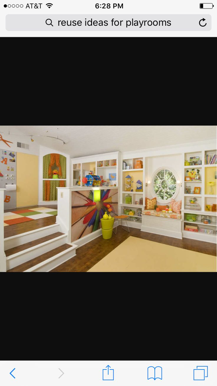 An open playroom design allows you to keep an eye on the kids with ease