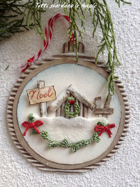 Everyone looks at the clouds: Christmas Tags