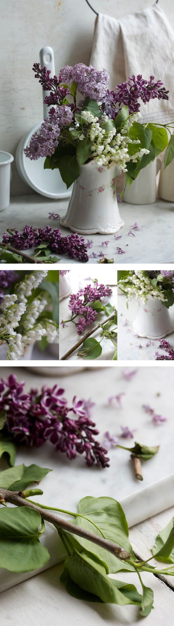 beautiful lilacs & lilies of the valley by Margaret & Joy