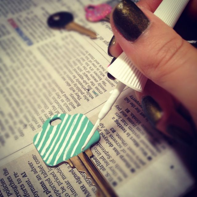 16 best images about key decorating on pinterest for Diy shoes with nail polish