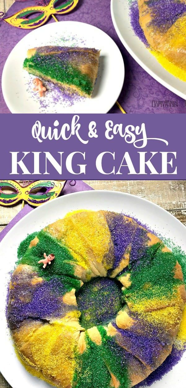 This Mardi Gras make this easy King Cake recipe using packaged crescent rolls for the dough. A delicious twist on a traditional Mardi Gras king cake. ...