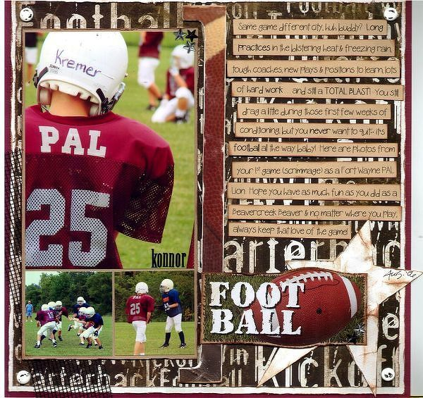 347 Best Football Scrapbook Pages Images On Pinterest Scrapbooking