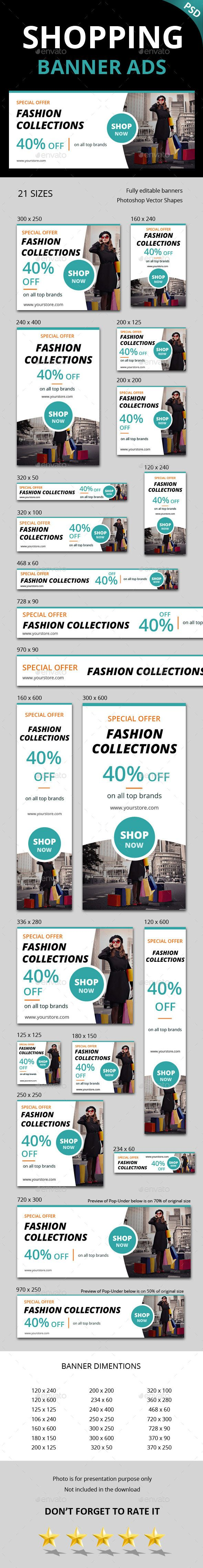 Shopping Ad Banner Template PSD. Download here: http://graphicriver.net/item/shopping-ad-banner/15064359?ref=ksioks