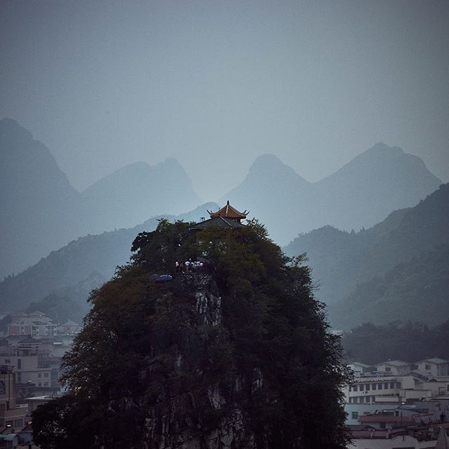 #guilin #china #travel #editorial #photography #karst #city #evening #heaven