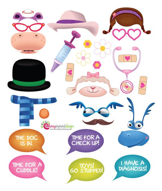 28 Awesome Doc McStuffins Photo Booth Props by CherryImprintDesign