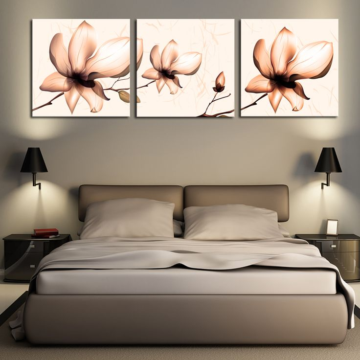 ==> [Free Shipping] Buy Best 2016 Wall Art Cuadros Decoracion Unframed 3 Sets Wall Painting Lotus Home Decorative Cheap Art Picture Paint On Canvas Prints Online with LOWEST Price | 32788714813