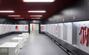 Vestidores estadio del club Atletico de Bilbao.