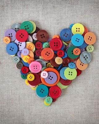 cuore bottoni