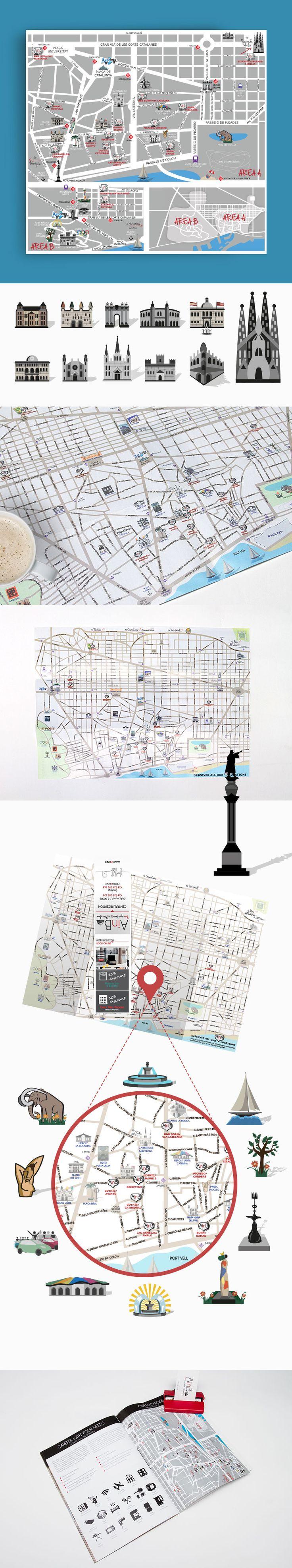 Barcelona Maps for AinB.net Agency — UnfoldAtelier: Boost Sales with Friendly Design
