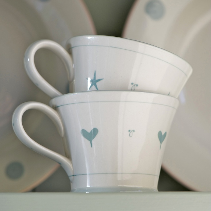 Simply Blue Oscar Conical Mug | Susie Watson Designs