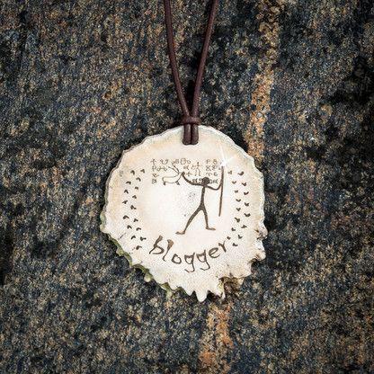BLOGGER Prehistoric horn pendant by KiviMeri Gift idea for bloggers