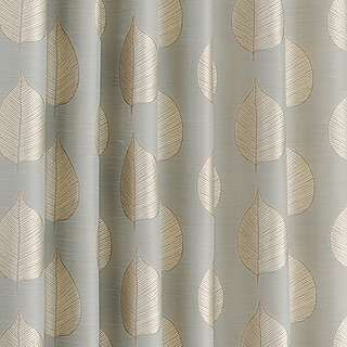 Gold leaf print curtains dunelm mill living space for Space fabric dunelm