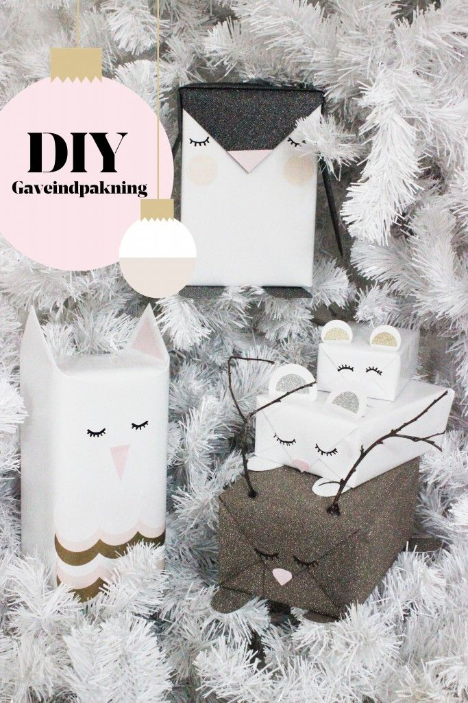 wrapping packages ... cute mod animals ... use the flaps ...