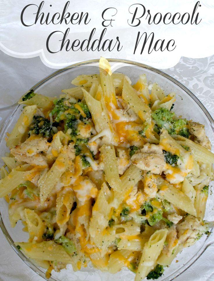 Chicken Broccoli and Cheddar Mac Pasta Recipe   Easy pasta ...