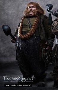 Stephen Hunter as Bombur the Dwarf in The Hobbit Movie