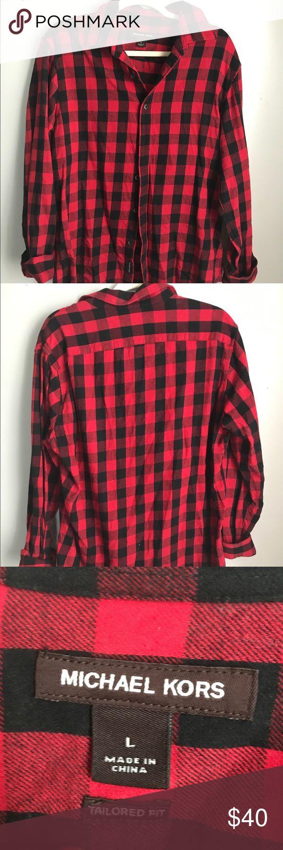 Michael Kors Men plaid shirt Barely worn a few times. In very good condition Michael Kors Shirts Casual Button Down Shirts