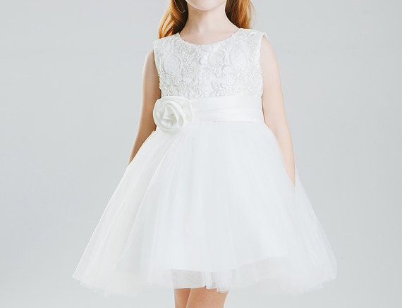 Flower Girl Dress with Exquisite beads on Top Ready by BridalDebut