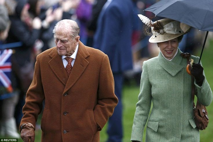 dailymail: British Royals attend Christmas service at St. Mary Magdalene Church, Sandringham, December 25, 2015-Duke of Edinburgh and Princess Royal