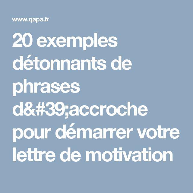 20 exemples détonnants de phrases d'accroche pour démarrer votre lettre de motivation
