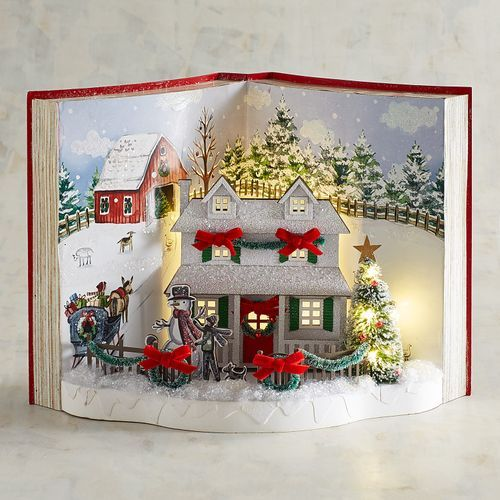 Christmas Homecoming Ideas.Led Light Up Christmas Homecoming Book Decor Pier 1