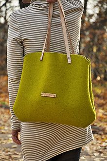 Veľké tašky - Wood bag NO.05 - 6015139_