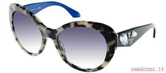 Occhiali da Sole Prada Voice Maculato Blu pr26qs kad3b2 offerte su