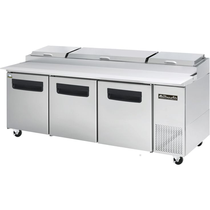 """Commercial Stainless Steel Pizza Prep Table Refrigerator 93"""" x 32"""""""