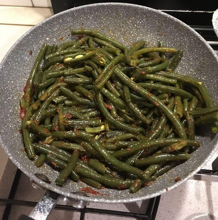 Fagiolini saltati in padella con salsa di soia