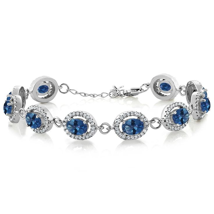 12.38 Ct Oval Royal Blue Mystic Topaz 925 Sterling Silver Bracelet * Read more reviews of the product by visiting the link on the image. (This is an Amazon Affiliate link and I receive a commission for the sales)